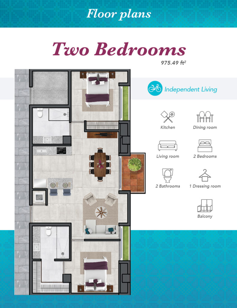 IL Two bedrooms 01